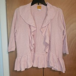 Ruby Rd. 3/4 Sleeve Pink Sweater Size 1X